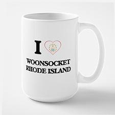 I love Woonsocket Rhode Island Mugs