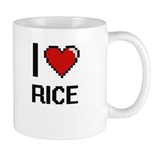 I Love Rice digital retro design Mugs