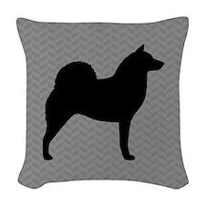 Finnish Spitz Woven Throw Pillow