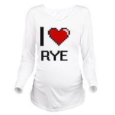 I Love Rye digital r Long Sleeve Maternity T-Shirt