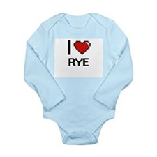 I Love Rye digital retro design Body Suit