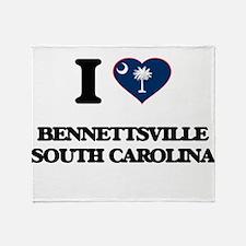 I love Bennettsville South Carolina Throw Blanket