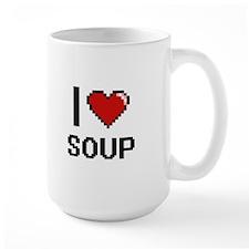 I Love Soup digital retro design Mugs