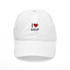 I Love Soup digital retro design Baseball Cap