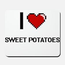 I Love Sweet Potatoes digital retro desi Mousepad