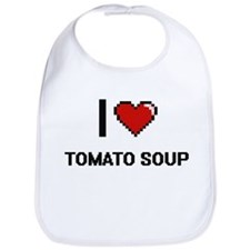 I Love Tomato Soup digital retro design Bib