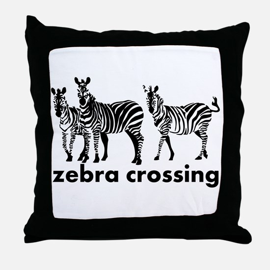 Zebra Crossing Throw Pillow