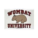 Wombat University Rectangle Magnet (100 pack)