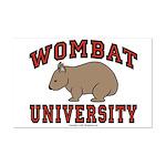 Wombat University Mini Poster Print