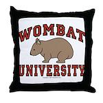 Wombat University Throw Pillow