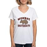 Wombat University Women's V-Neck T-Shirt