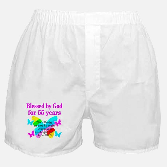 BLESSED 55 YR OLD Boxer Shorts