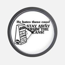 He Hates The Cans! Wall Clock