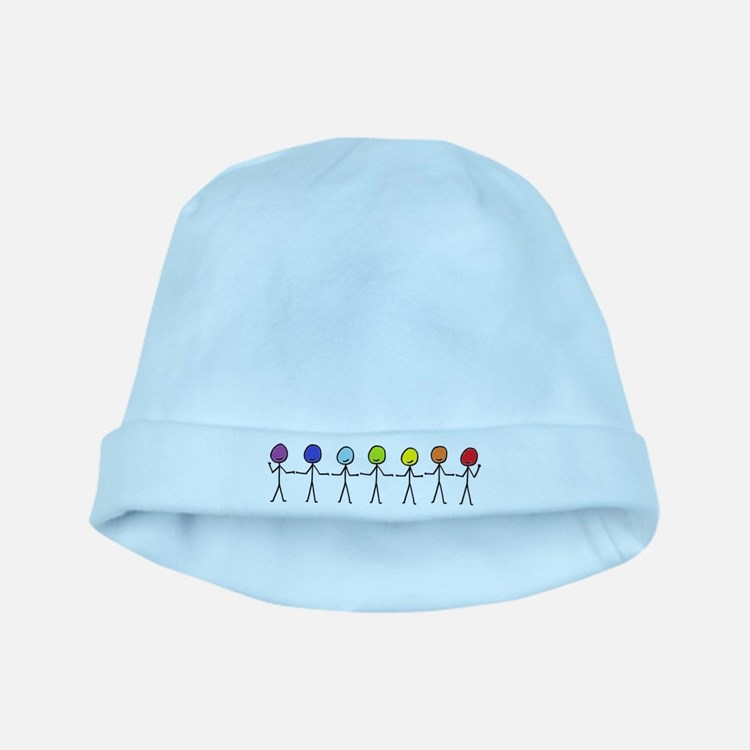 Rainbow Sticks baby hat
