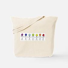 Rainbow Sticks Tote Bag