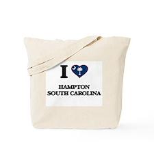 I love Hampton South Carolina Tote Bag