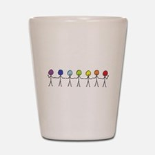 Rainbow Sticks Shot Glass