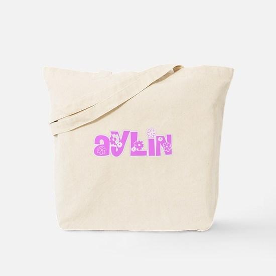 Aylin Flower Design Tote Bag