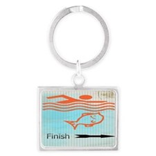 Finish with the Fish Landscape Keychain