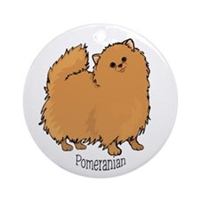 I Love Pomeranians Ornament (Round)