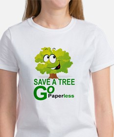 SAVE A TREE, GO PAPERLESS T-Shirt
