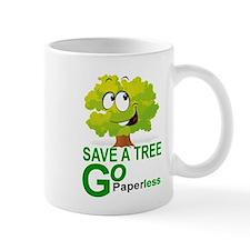 SAVE A TREE, GO PAPERLESS Mugs