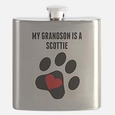 My Grandson Is A Scottie Flask