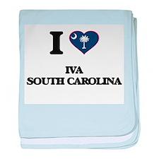 I love Iva South Carolina baby blanket