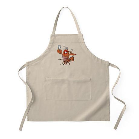 Girl Toasting Wine Lobster BBQ Apron
