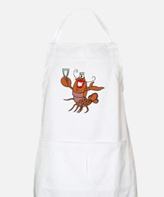 Girl Toasting Wine Lobster BBQ Apron