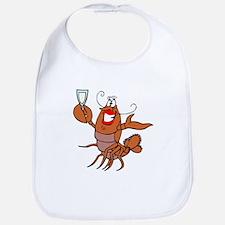 Girl Toasting Wine Lobster Bib