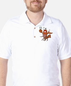 Girl Toasting Wine Lobster T-Shirt