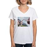 Creation / G-Shep Women's V-Neck T-Shirt
