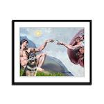 Creation / G-Shep Framed Panel Print
