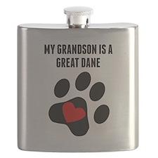 My Grandson Is A Great Dane Flask