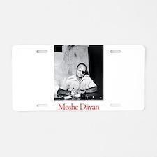 Moshe Dayan Israeli Army ID Aluminum License Plate
