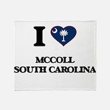 I love Mccoll South Carolina Throw Blanket