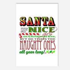 Santa and the Nice Girls Postcards (Package of 8)