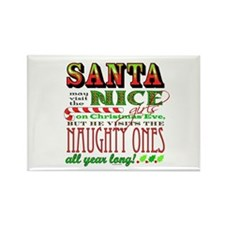 Santa and the Nice Girls Rectangle Magnet