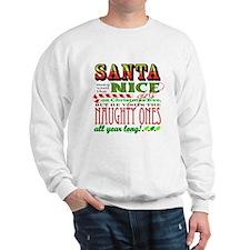 Santa and the Nice Girls Sweatshirt