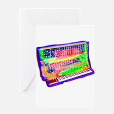 Modular analog electronic synthesiz Greeting Cards