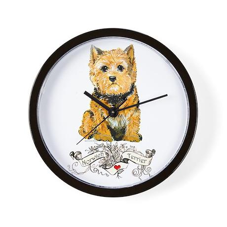 I love my Norwich Terrier Wall Clock