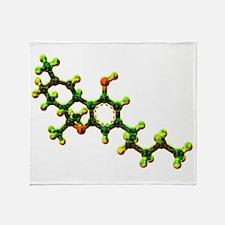 THC Molecule Throw Blanket
