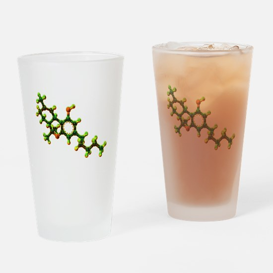 THC Molecule Drinking Glass