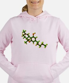 THC Molecule Women's Hooded Sweatshirt