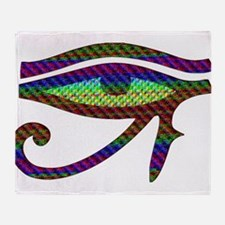 Eye of Horus Throw Blanket