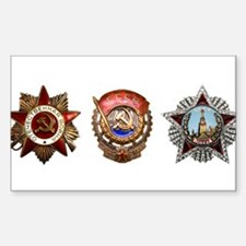 Military Soviet Union Decorations Medals T Decal
