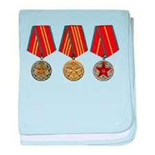 Soviet Union Medals T-shirt 2nd World baby blanket