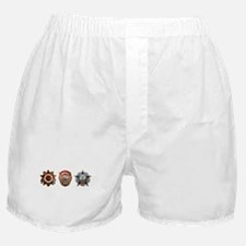 Military Soviet Union Decorations Med Boxer Shorts
