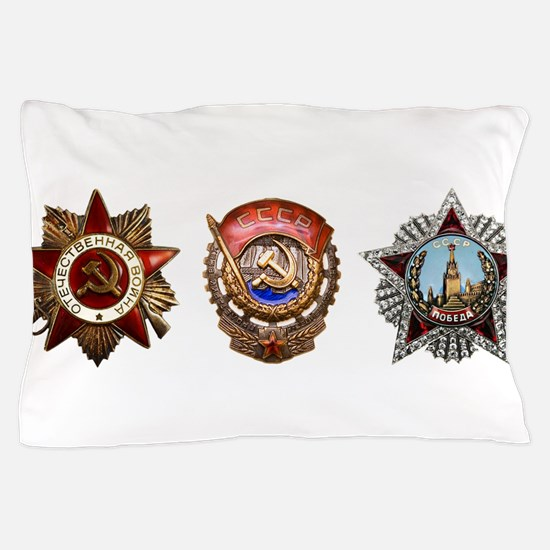 Military Soviet Union Decorations Meda Pillow Case